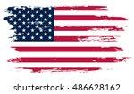 grunge american flag.vector... | Shutterstock .eps vector #486628162