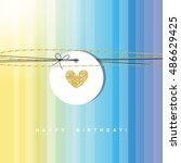 birthday card | Shutterstock .eps vector #486629425