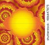 tribal invitation. tribal... | Shutterstock .eps vector #486647875