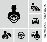 car driver vector icons | Shutterstock .eps vector #486653725