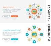 set of flat line business... | Shutterstock .eps vector #486659725