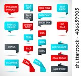 vector stickers  price tag ... | Shutterstock .eps vector #486659905