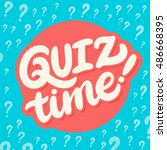 quiz time banner. | Shutterstock .eps vector #486668395