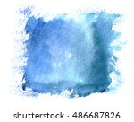 hand paint watercolor winter... | Shutterstock . vector #486687826