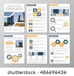 vector orange and blue template ... | Shutterstock .eps vector #486696436