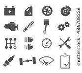 mechanic icons | Shutterstock .eps vector #486708226
