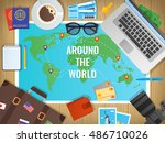 travel concept vector... | Shutterstock .eps vector #486710026