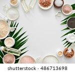 image of homemade cosmetics... | Shutterstock . vector #486713698