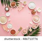 image of homemade cosmetics... | Shutterstock . vector #486713776