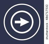 arrow   icon vector. flat... | Shutterstock .eps vector #486717532