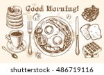 traditional breakfast set.... | Shutterstock .eps vector #486719116