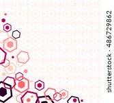 honey comb abstract design for... | Shutterstock .eps vector #486729862