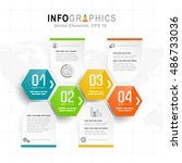 white infographics set with... | Shutterstock .eps vector #486733036