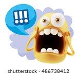 3d rendering surprise character ... | Shutterstock . vector #486738412