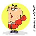 Caucasian Cartoon Boxing...