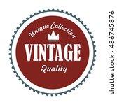 vintage badges   Shutterstock .eps vector #486745876