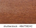 orange roof tiles close up... | Shutterstock . vector #486758242