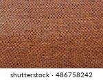orange roof tiles close up... | Shutterstock . vector #486758242