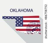 state of oklahoma vector... | Shutterstock .eps vector #486758752