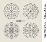circle shape set of ornamental... | Shutterstock . vector #486765166