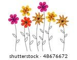 flower   Shutterstock .eps vector #48676672