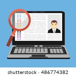 search employee concept.flat... | Shutterstock .eps vector #486774382