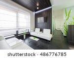 empty nurses station in a... | Shutterstock . vector #486776785