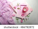 Still Life Of Pink Items....