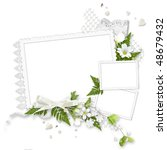 isolated frame for three photos ... | Shutterstock . vector #48679432