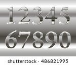 mathematics numeral silver  on... | Shutterstock .eps vector #486821995