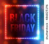 black friday background.... | Shutterstock .eps vector #486825196