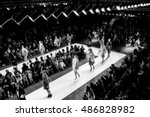 fashion show  catwalk  runway... | Shutterstock . vector #486828982