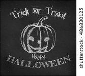 halloween poster design   hand...   Shutterstock .eps vector #486830125
