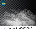 fog or smoke isolated... | Shutterstock .eps vector #486830818