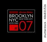 brooklyn typography design. t...   Shutterstock .eps vector #486831526