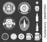 set of vintage logo  badge ... | Shutterstock .eps vector #486855502
