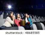 young girls at viewing of sad... | Shutterstock . vector #48685585