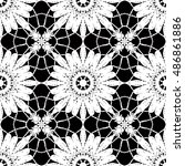 lace   doily seamless pattern ... | Shutterstock .eps vector #486861886