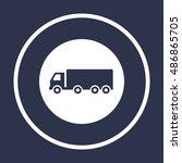 truck  icon vector. flat design.... | Shutterstock .eps vector #486865705