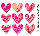 vector heart collection | Shutterstock .eps vector #48688204
