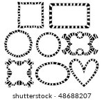 vector striped frames | Shutterstock .eps vector #48688207