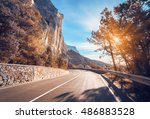 asphalt road. colorful... | Shutterstock . vector #486883528