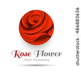 beautiful contour red logo with ...