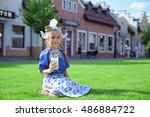 Adorable Blond Little Girl Wit...