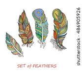 vector ornate set of stylized... | Shutterstock .eps vector #486905926