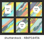 set of creative vector... | Shutterstock .eps vector #486916456