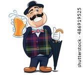 english beer drinker. vector... | Shutterstock .eps vector #486919525