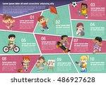 vector brochure backgrounds... | Shutterstock .eps vector #486927628