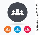 people icon. group of humans... | Shutterstock .eps vector #486928285