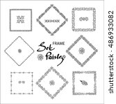 set of square shaped frames... | Shutterstock .eps vector #486933082